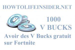 Avoir des V Bucks gratuit sur Fortnite