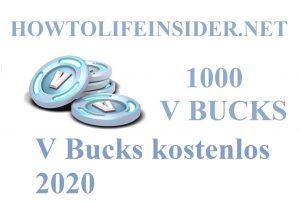 V Bucks kostenlos 2020